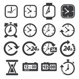 Time and clock icon set Stock Image