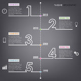 Time line info graphic number design template Royalty Free Stock Photography