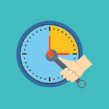 Time management concept. Flat design. Stock Photo
