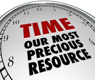 Time Our Most Precious Resource Clock Shows Value of Life