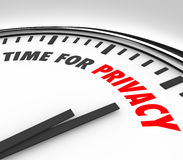 Time for Privacy Clock Protect Personal Sensitive Information Da Royalty Free Stock Photography