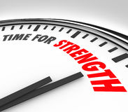 TIme for Strength Clock Strong Skills Advantage Royalty Free Stock Photography