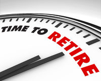 Time to Retire - Clock Royalty Free Stock Photos