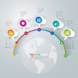 Timeline infographics design template. Royalty Free Stock Photography