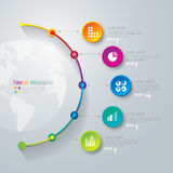 Timeline infographics design template. Royalty Free Stock Images