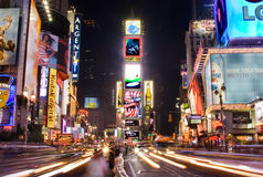 Times Square by night Royalty Free Stock Images