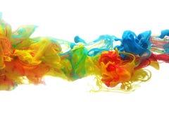 Tinta colorida na água Foto de Stock