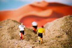 Tiny toy explore the desert Royalty Free Stock Photography