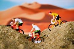 Tiny toy explore the desert Royalty Free Stock Photos