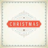 Tipográfico retro e flourishes do Natal Fotografia de Stock