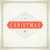 Tipográfico retro y flourishes de la Navidad Fotografía de archivo