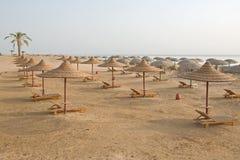 Tiri con le capanne vuote multiple, il Mar Rosso, Egitto Fotografia Stock