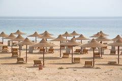 Tiri con le capanne vuote multiple, il Mar Rosso, Egitto Fotografia Stock Libera da Diritti