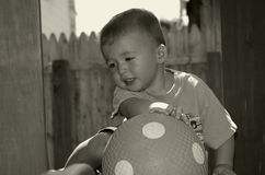 Toddler With Ball Royalty Free Stock Photography