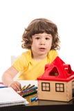 Toddler boy at kindergarten Royalty Free Stock Images