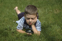 Toddler Observing Nature Royalty Free Stock Photo