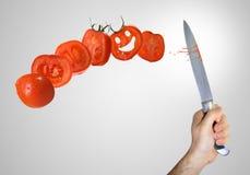 Tomato cut Stock Photo