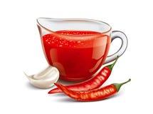Tomato hot sauce Royalty Free Stock Photos
