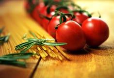 Tomato Vine and Pasta Royalty Free Stock Photo