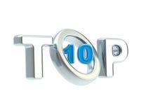Top-10 emblem symbol isolated Royalty Free Stock Photo
