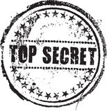 Top secret stamp Royalty Free Stock Images