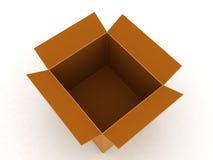 Top view of carton box Stock Images