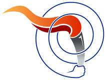 Torch with swirl Royalty Free Stock Photography