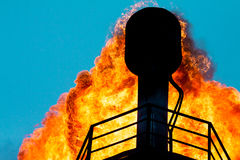 Torches for casing-head gas Stock Image