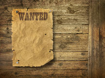 Torn Wild West wanted poster Royalty Free Stock Images