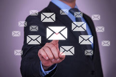 Touch Email Stock Images