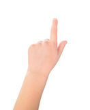 Touch screen child gesture Stock Photography