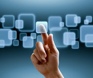 Touchscreen interface Stock Afbeeldingen