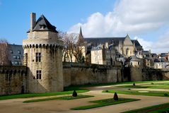 Tourism medieval in Vannes Stock Images