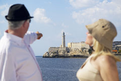 Tourism and old people traveling, seniors having fun on vacation Stock Images