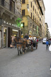 Tourist carriage in Florence Royalty Free Stock Photography