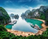 Tourist junks at Ha Long Bay, Vietnam Stock Photography