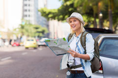 Tourist sidewalk urban Stock Images
