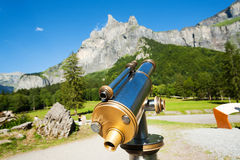 Tourist telescope Royalty Free Stock Photography