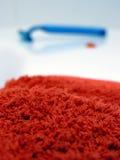 Tovagliolo rosso Fotografie Stock Libere da Diritti