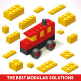Toy Block Bus Games Isometric Foto de Stock Royalty Free