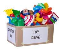 Toy donation box Stock Image