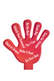 Toy Hand with Motivation Royalty Free Stock Photos