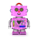 Toy robot girl smiling into the camera Stock Photo