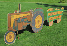 Tractor Cutout Display Stock Image