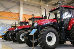 Tractors on exhibition Stock Images