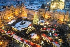 Trade fair in Prague. Christmas Stock Image