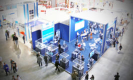 Trade show background Stock Photography