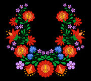 Traditional Hungarian folk embroidery pattern Stock Photography
