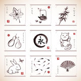 Traditional Japanese elements Stock Photography