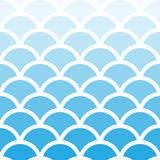 Traditional Seigaiha Japanese seamless aqua blue wave pattern. Royalty Free Stock Photography